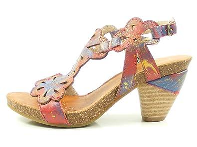 Laura Vita SL235-20 Dax 20 Sandales Mode Femme, Schuhgröße_1:41 EU;Farbe:Rouge