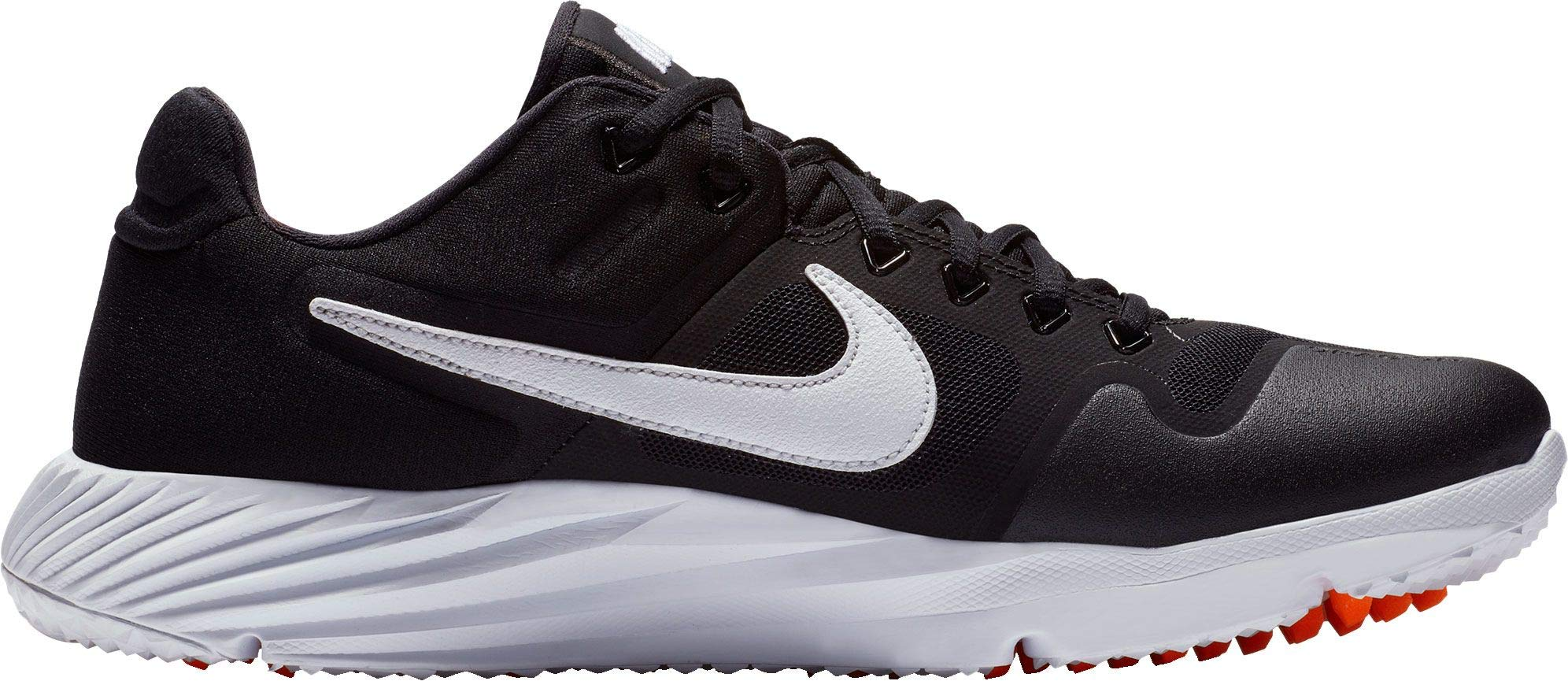 Nike Men's Alpha Huarache Elite 2 Turf Baseball Cleats (10.5, Black/White) by Nike