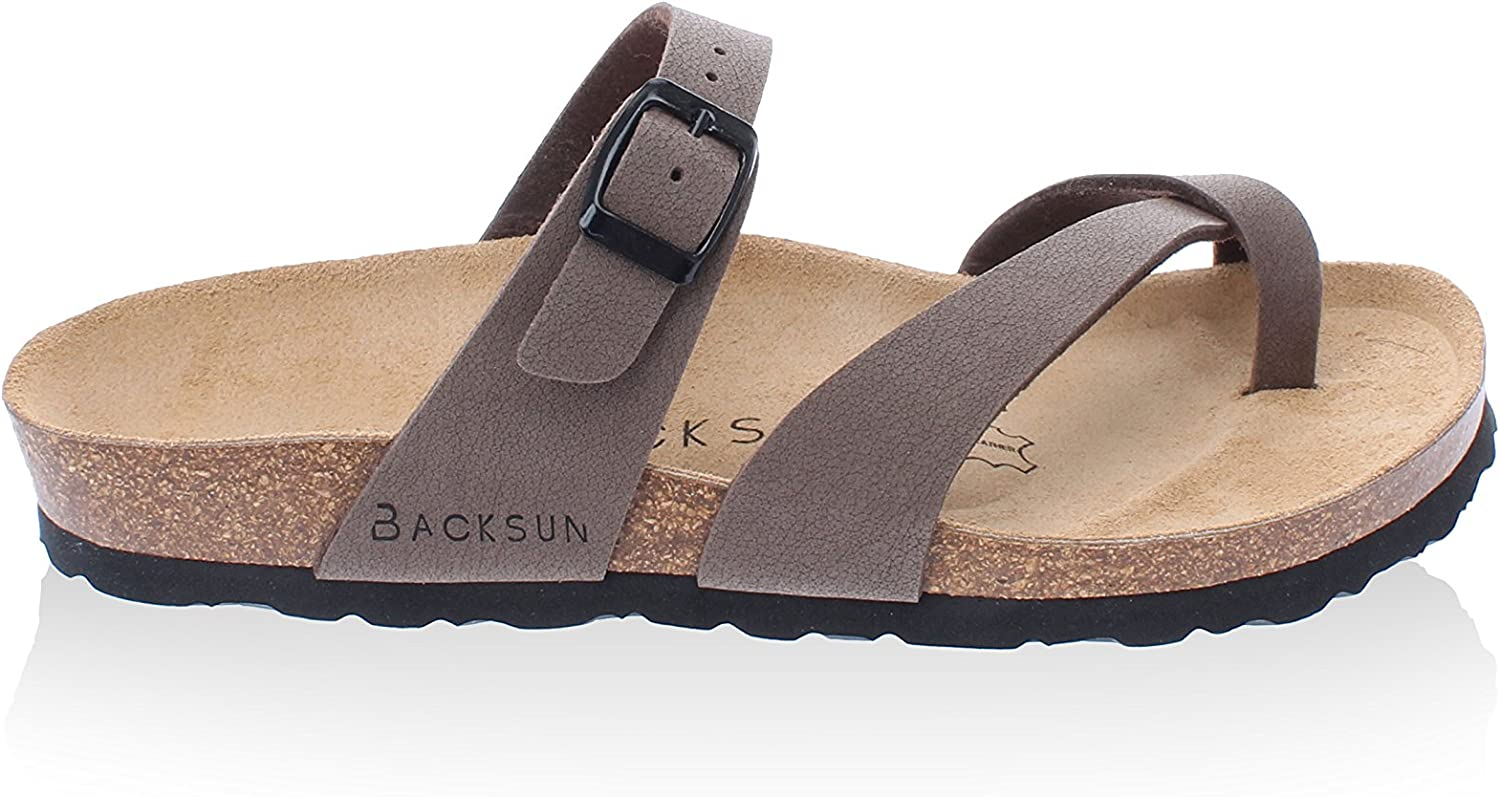 Backsun TongsSandales Barcelone Femme Marron Mat