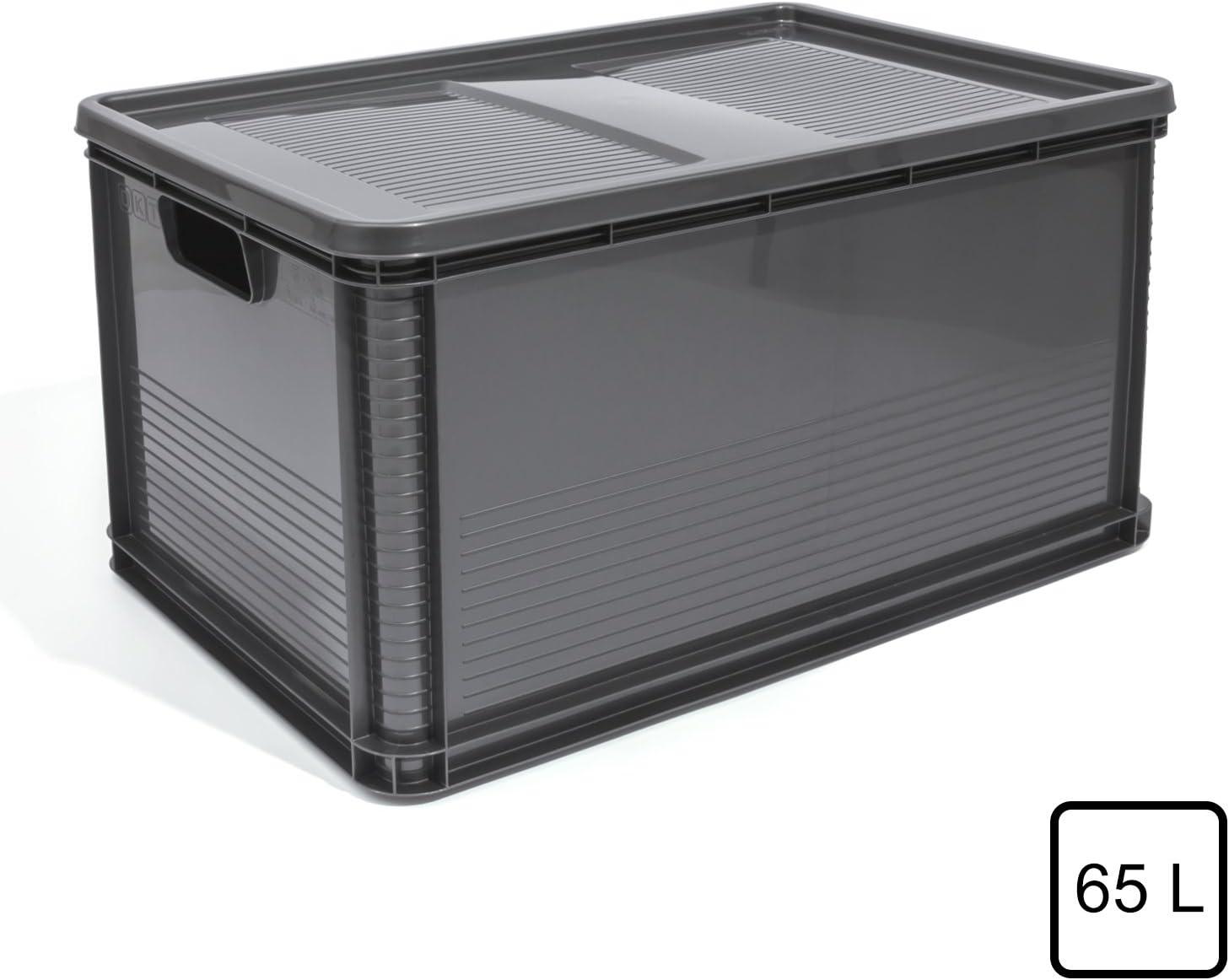 3 Stück E3-Kiste Stapelbox Kunststoffbehälter Eurokiste Eurobox Lagerbox grau.