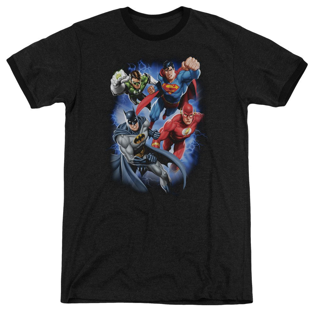 Sons of Gotham JLA Storm Makers Adult Ringer T Shirt L