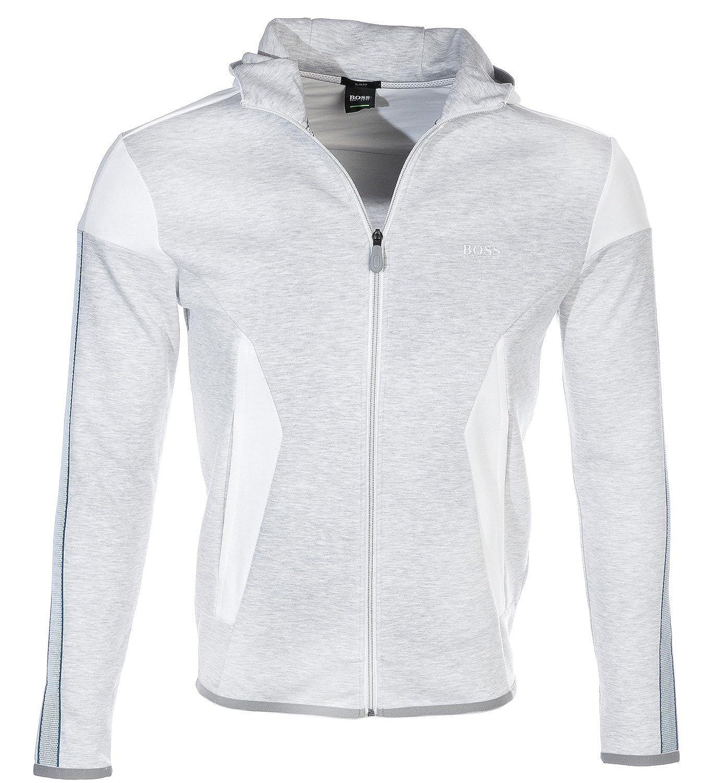 e28f1373f Hugo Boss Green Mens Selnio Hoodie, Panelled White Hooded Sweatshirt S  White: Amazon.co.uk: Clothing