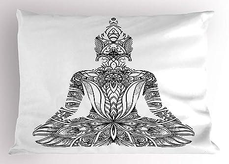 Chakra Pillow Sham, Mediating Silhouette of Kundalini Yoga ...