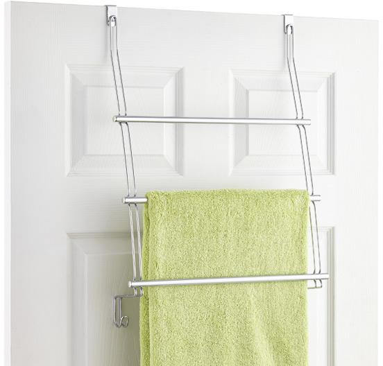 Classico Overdoor Towel Rack | The Container Store