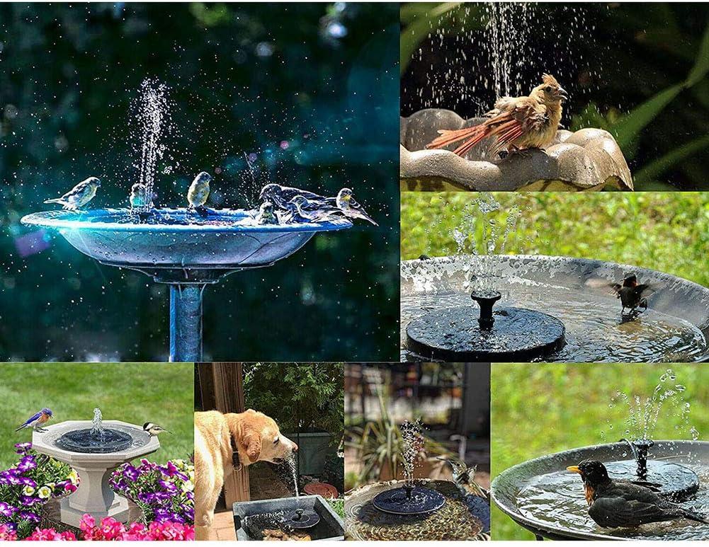 Birds Bath Fountain Solar Powered Solar Powered Water Pump PerGrate Garden Solar Water Pump Water Pump Floating Outdoor Pond Garden Patio Pool,Black
