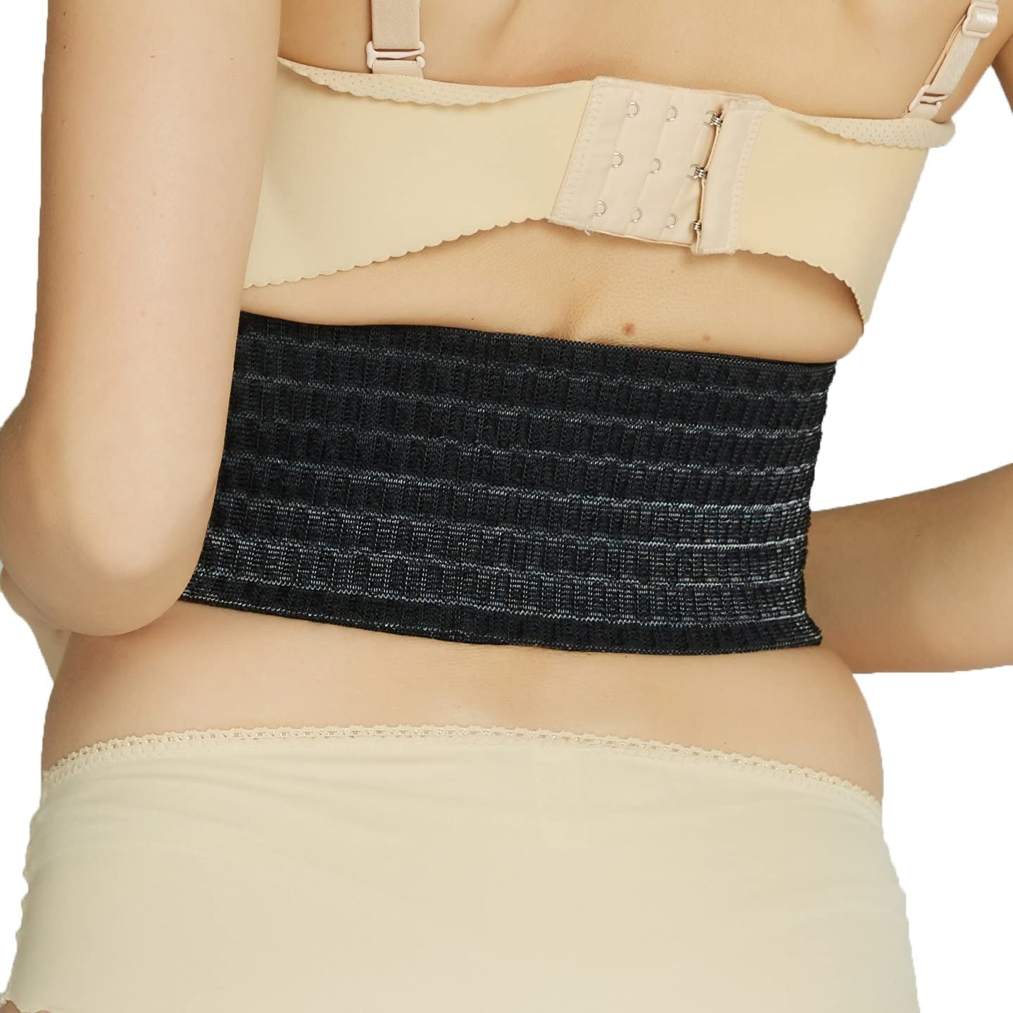 Neotech Care 3-in-1 Maternity Pregnancy Support, Postpartum Belly Wrap & Pelvis Belt/Brace/Band - Breathable Girdle - Black - XL Size: Health & Personal Care