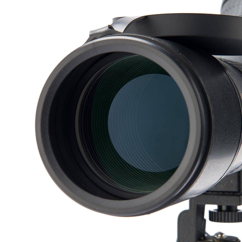 Hiram 20-60x60 Detecci/ón de prismas con tr/ípode alcance impermeable para observaci/ón de aves Tiro al blanco con arco Actividades al aire libre