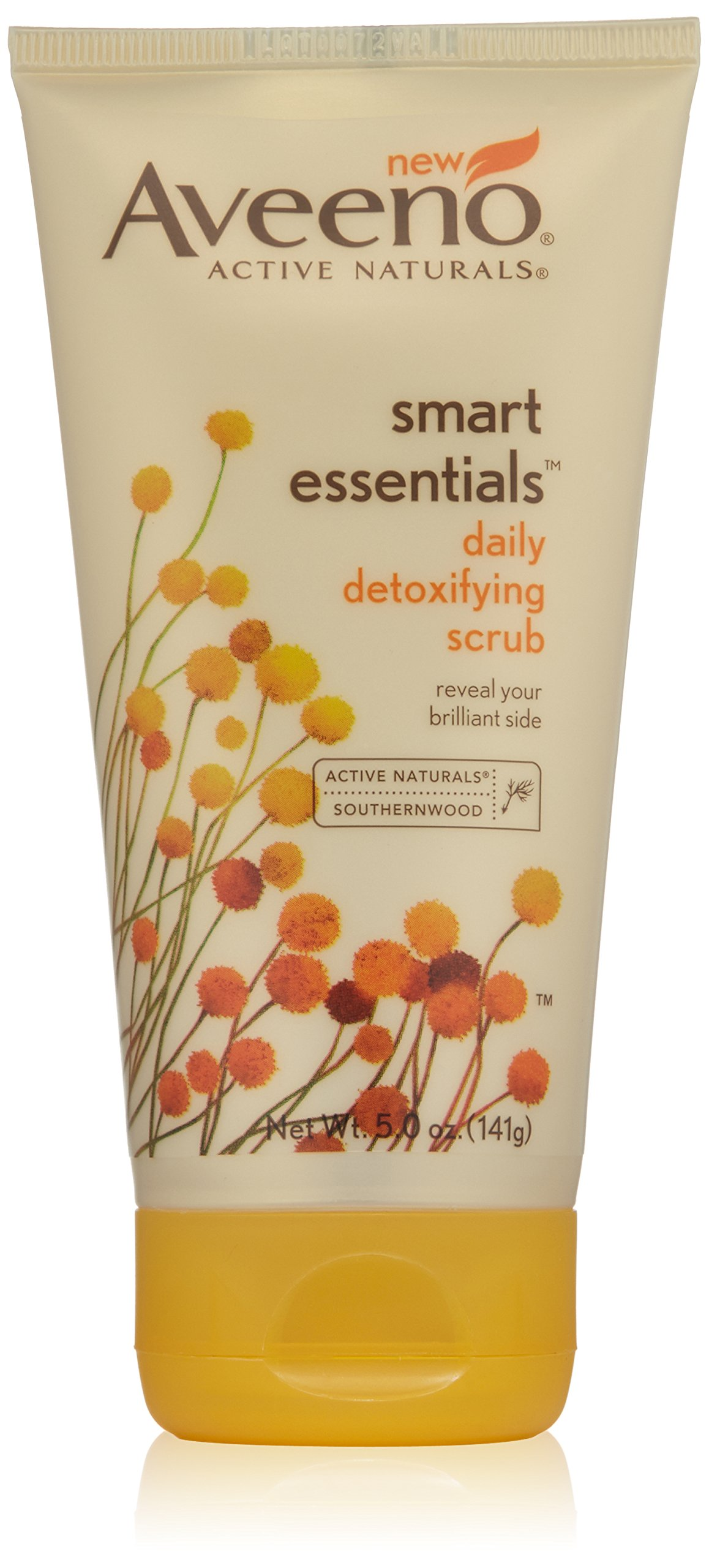 Aveeno Active Naturals Smart Essentials Daily Detoxifying Scrub, 5.0 Ounce (2 Pack)