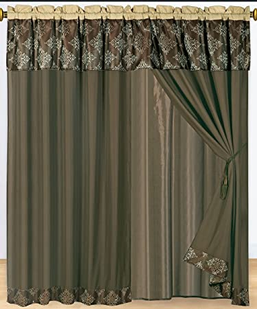 Amazon.com: Thomasville Coffee Curtains 2 x Panels 60x84