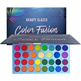 High Pigmented Makeup Palette Easy to Blend Color Fusion 39 Shades Metallic and Shimmers Eyeshadow Sweatproof and Waterproof