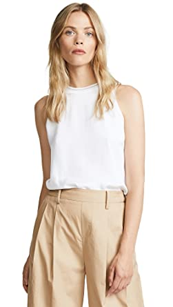 e9992e41b3fe9 Amazon.com  Vince Women s Ribbed Trim Tank Top  Clothing