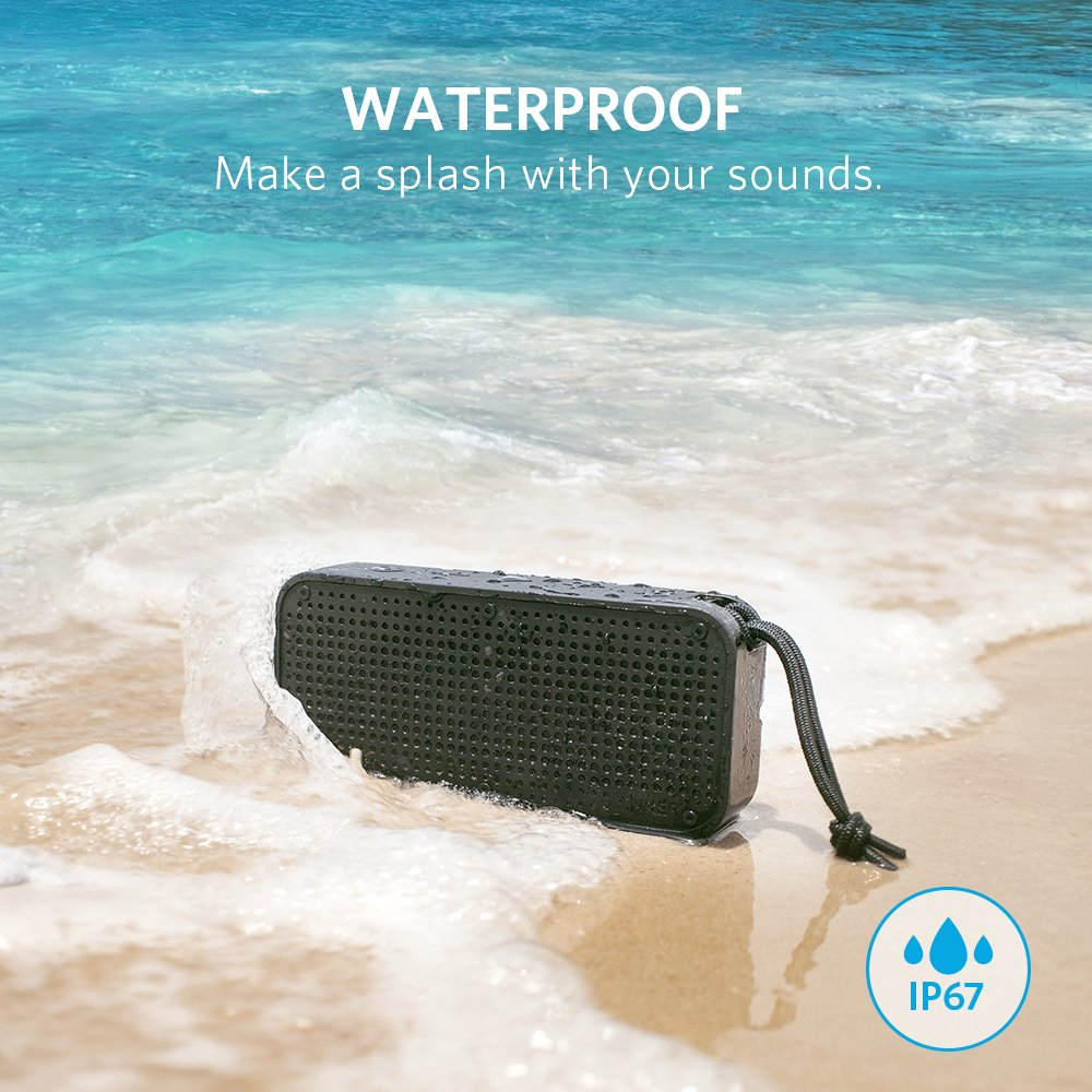 Anker Soundcore Sport Xl Outdoor Portable Bluetooth General Electric 35875a Superbase Speaker 16w Output And 2 Subwoofers Ip67 Waterproof Weatherproof Shockproof