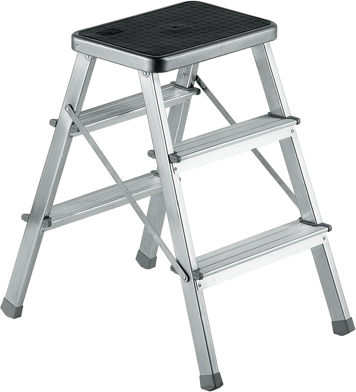 Escalera Taburete de aluminio 2 + 2 peldaños – Scab Giusto 845: Amazon.es: Bricolaje y herramientas