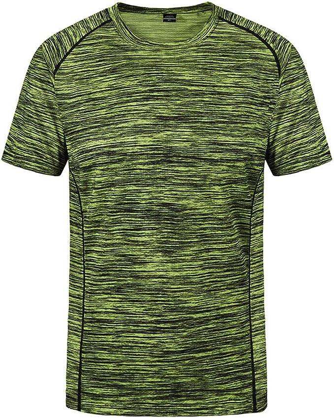 Camisetas Hombre Verano, Lunule Camiseta Deporte Hombre Manga Corta Cuello Redondo Suelto Tops Deportivos Fitness Blusa Top de Seca rapida para Hombre Casual: Amazon.es: Ropa y accesorios