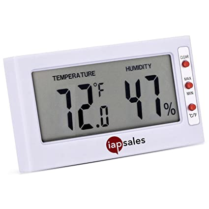 Fácil de leer: Interior Digital termómetro y medidor de humedad. Gran pantalla digital funciona