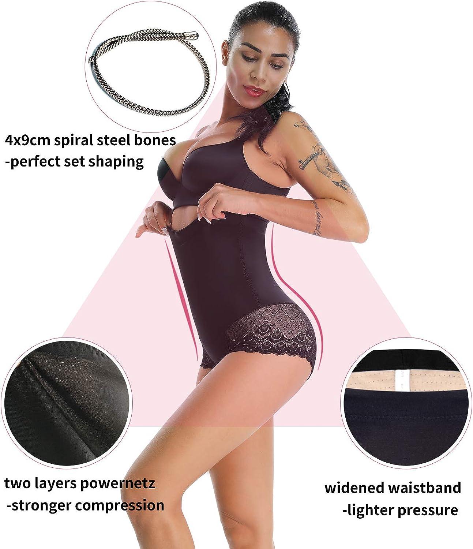 MISS MOLY Guaina Mutande Contenitive Intimo Modellante Shapewear Pancera Pancia Piatta Perizoma Dimagrante a Vita Alta 2 Strati Powernetz Elastico Donna Underwear