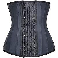 4adca6a70f3fd YIANNA Women s Underbust Latex Sport Girdle Waist Trainer Corsets Hourglass  Body Shaper