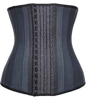 d90f98974 YIANNA Women s Underbust Latex Sport Girdle Waist Trainer Corsets Hourglass Body  Shaper