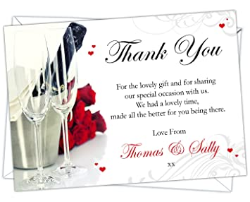 Personalised Ruby Wedding Anniversary Thank You Cards Design Code