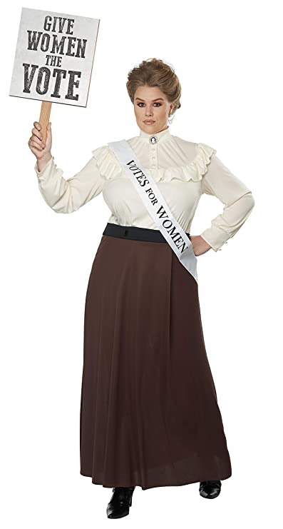 Victorian Plus Size Dresses | Edwardian Clothing, Costumes California Costumes English Suffragette Plus Size Costume- $45.88 AT vintagedancer.com