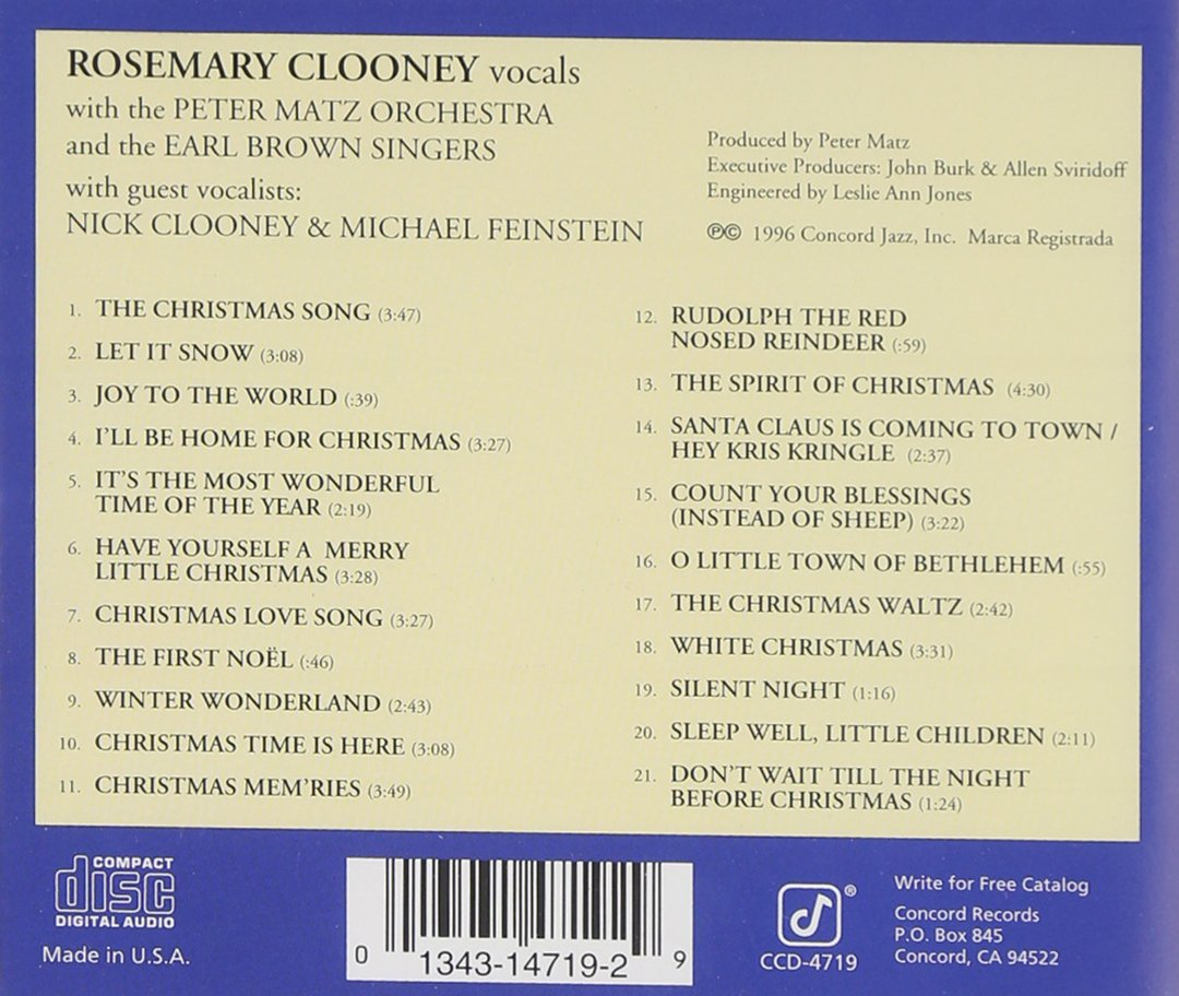 Rosemary Clooney - White Christmas - Amazon.com Music