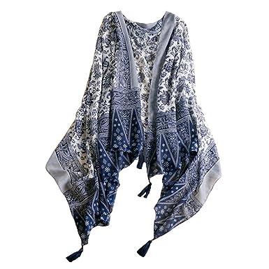 Châles Foulards Coton Gland pour Femme Élégant Longue Écharpe 72.8   X  43.3   27bb3a0f065