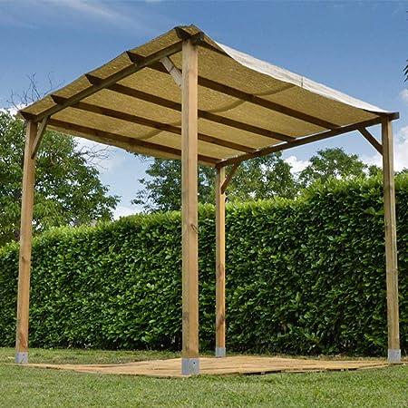 Gazebo a Pergola de madera 3 x 3 m – Sin Cubierta: Amazon.es ...