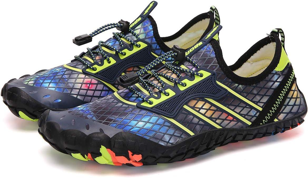 Li Off-Road Zapatos Antideslizantes, Zapatos de Senderismo al Aire Libre, Zapatos de natación de Cinco Dedos, Sandalias Transpirables, Apto para Rafting en la Playa del río, Amarillo, 35: Amazon.es: Deportes y aire