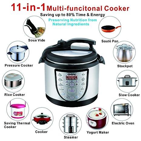 Amazon.com: Electric Pressure Cooker 4Qt Slow Cook ...