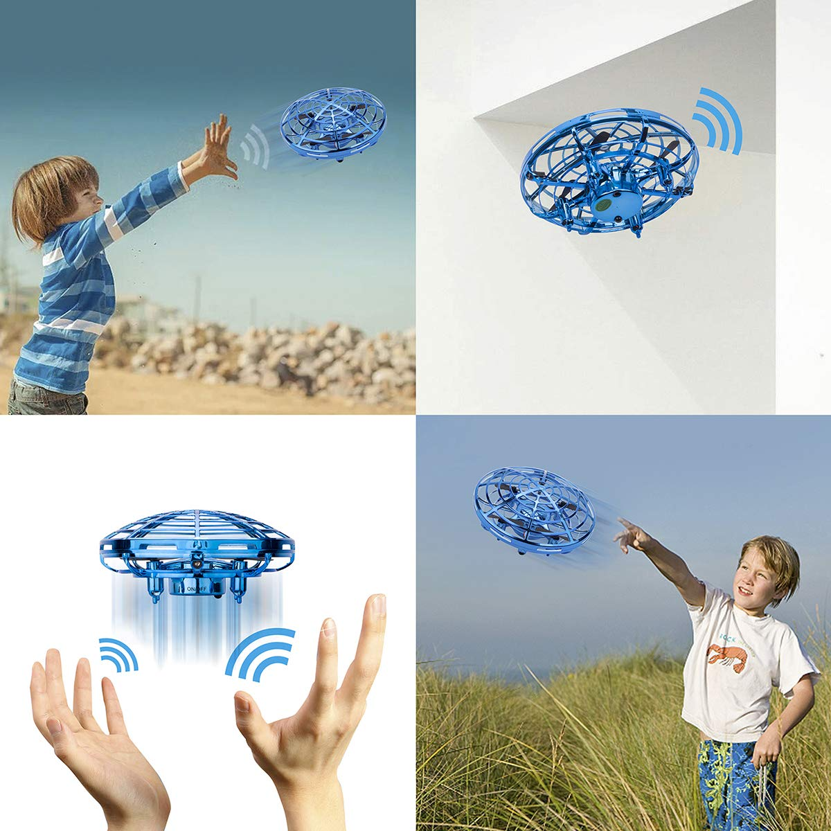 Flying Ball Toy - Sugoiti Mini Drones Quadcopters UFO Aircraft Motion Hand Controlled, Interactive Infrared Induction RC Helicopter with Led Light, Free Hover Automatic Sensing Obstacle, Gift for Kids by Sugoiti (Image #3)