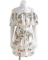 Twilaisaac Fashion fora do ombro dress chiffon mulheres mangas ruffles correias cruz multi vestidos de festa