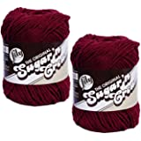 Lily Sugar 'n Cream 100% Cotton Limited Edition Yarn ~ 2-Pack (Wine #0015)