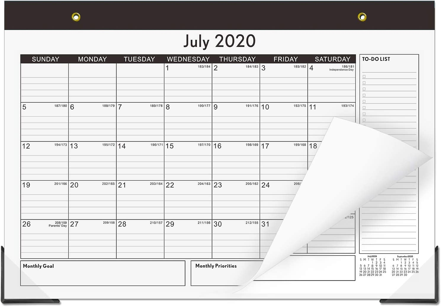 Desk Calendar 2020-2021 12x17 Desktop Academic Desk Pad Calendars 18 Month