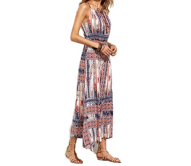 Eloise Isabel Fashion Elegante Do Vintage Print Floral Amarrado Cami Vestido Maxi Vestidos de Cintura Alta