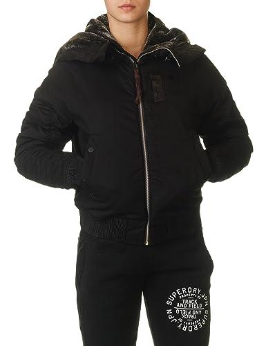 G-Star Women's Polax Hdd Women's Black Bomber Jacket 100% Cotton
