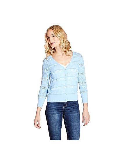 9505aa6f91 YUMI Arched Pattern Pointelle Stitch Cardigan: Amazon.co.uk: Clothing
