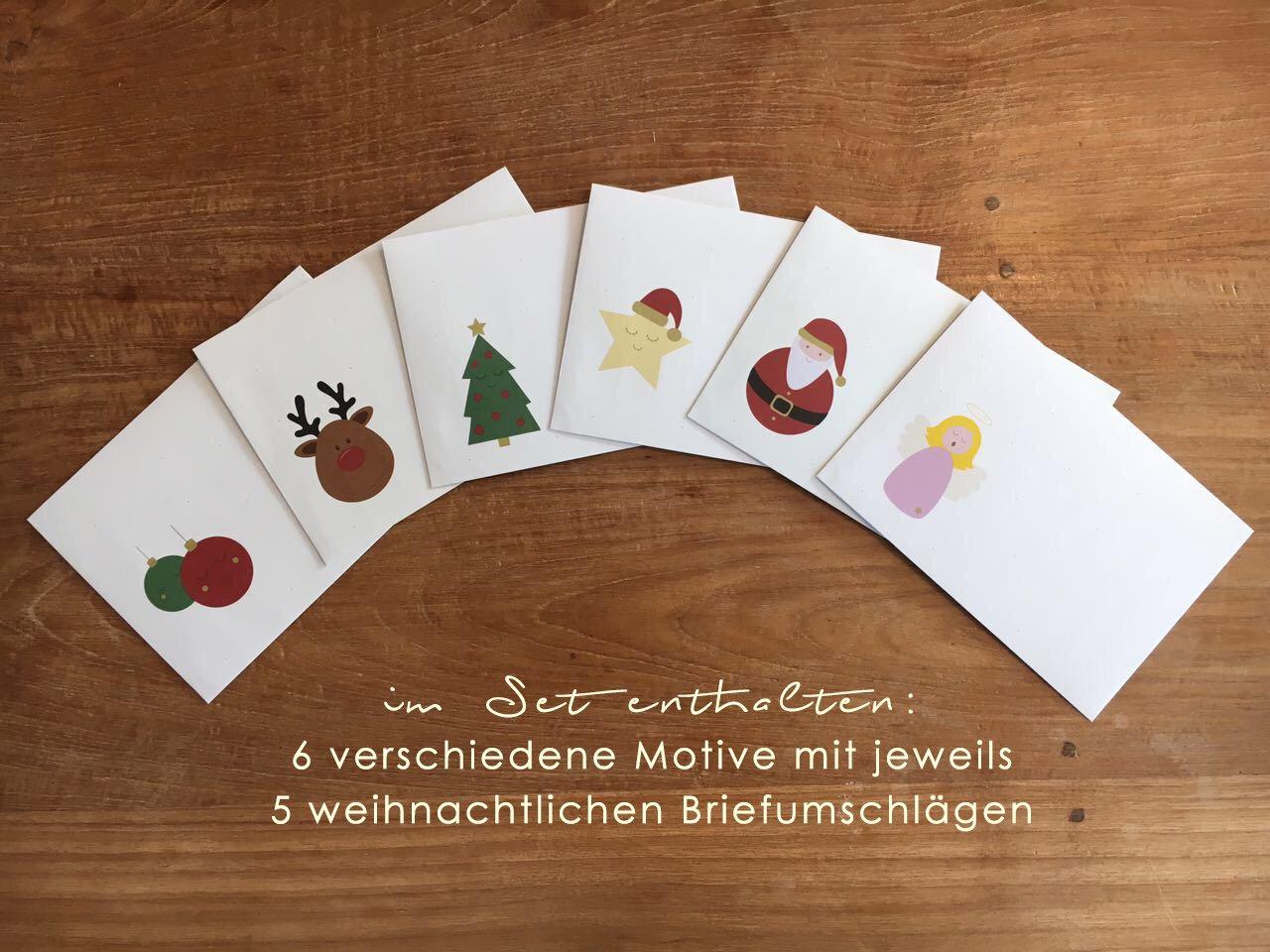 Material Escolar Incluye 6 X 5 Sobres A Juego Y Una Passenden Cartón Papel De Carta De Navidad Din A4 Navidad De Papel De Carta De Juego Oh My Deer 6 X 5 Hojas