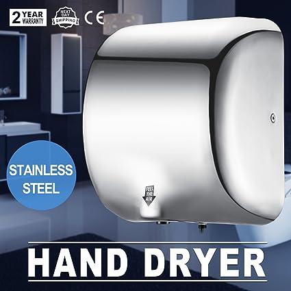 Autovictoria Secadores de manos Automatic Hand Dryer 1200W Secador de manos Automático Alta Velocidad 90 m / s Dispositivo de Secado de Manos ...