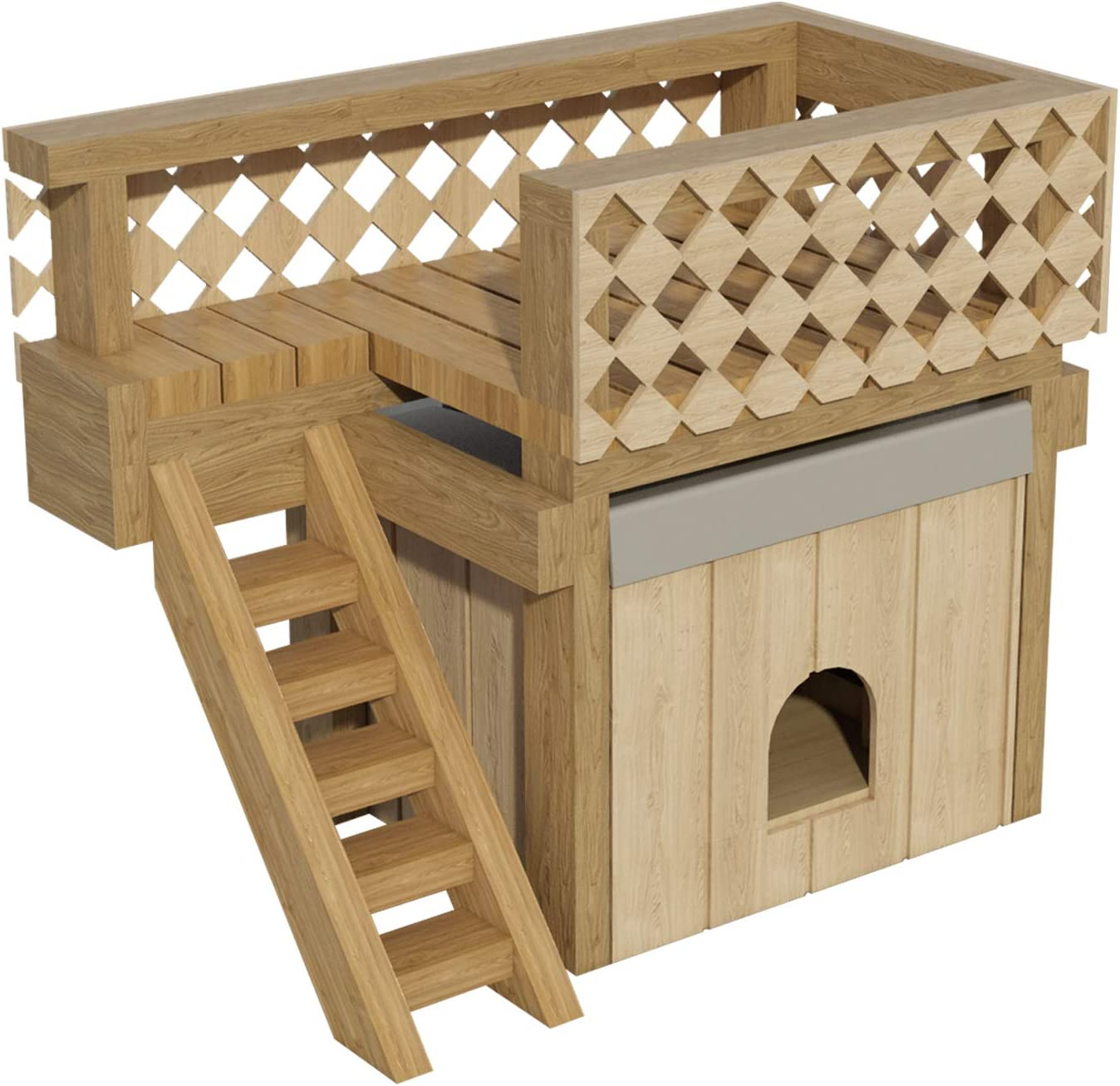Amazon Com Dog House Plans W Roof Deck Diy Small Outdoor Wooden Kennel Pet Home Shelter Home Improvement