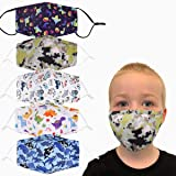klikko 5 Pcs Face Mask for Kids, Reusable Washable, Adjustable Headwear for Outdoor