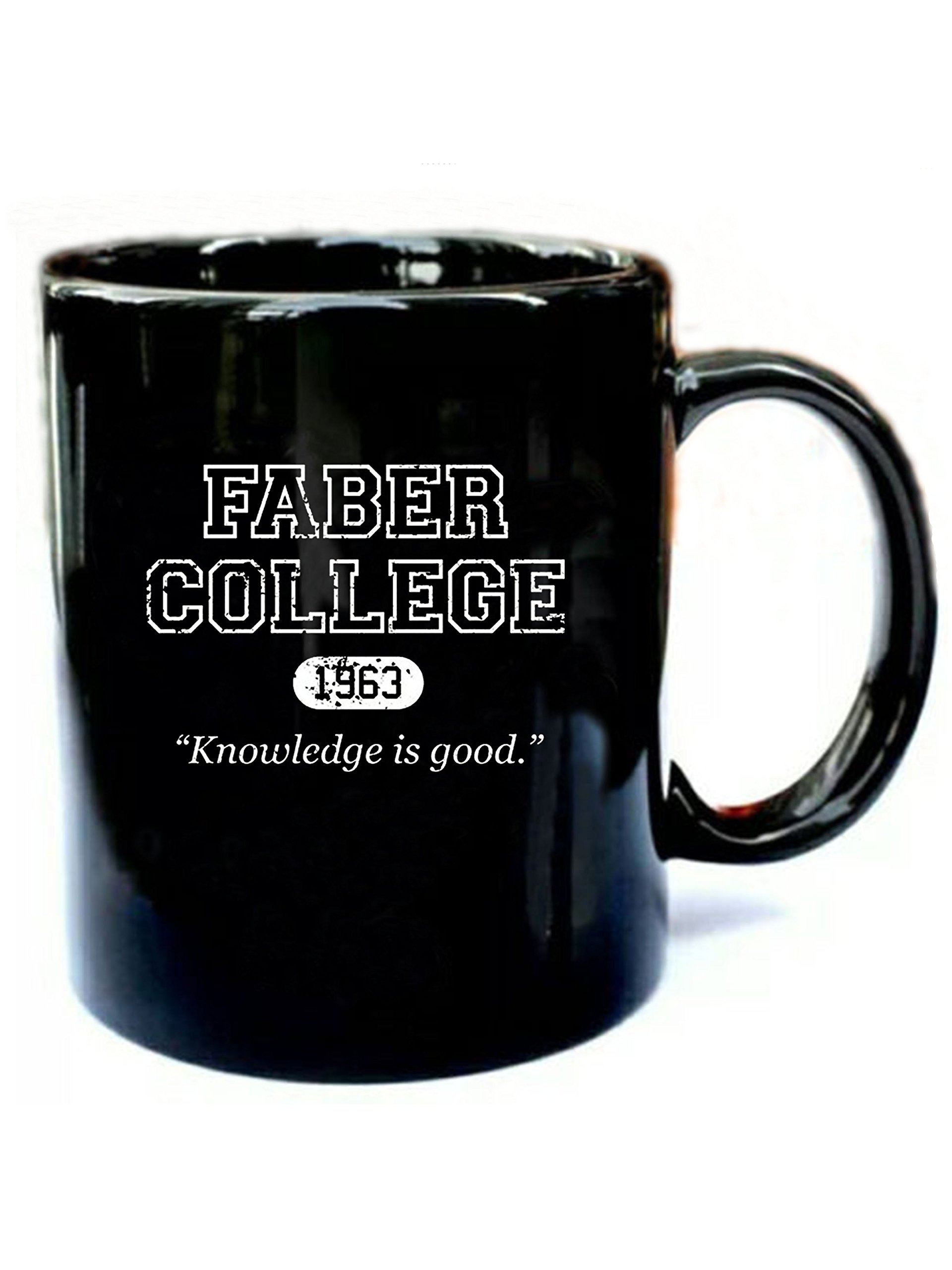Faber College 1963 Knowledge is Good - Funny Gift Black 11oz Ceramic Coffee Mug
