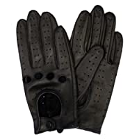 Harssidanzar Womens Touchscreen Luxury Italian Lambskin Leather Driving Gloves Unlined Vintage Finished