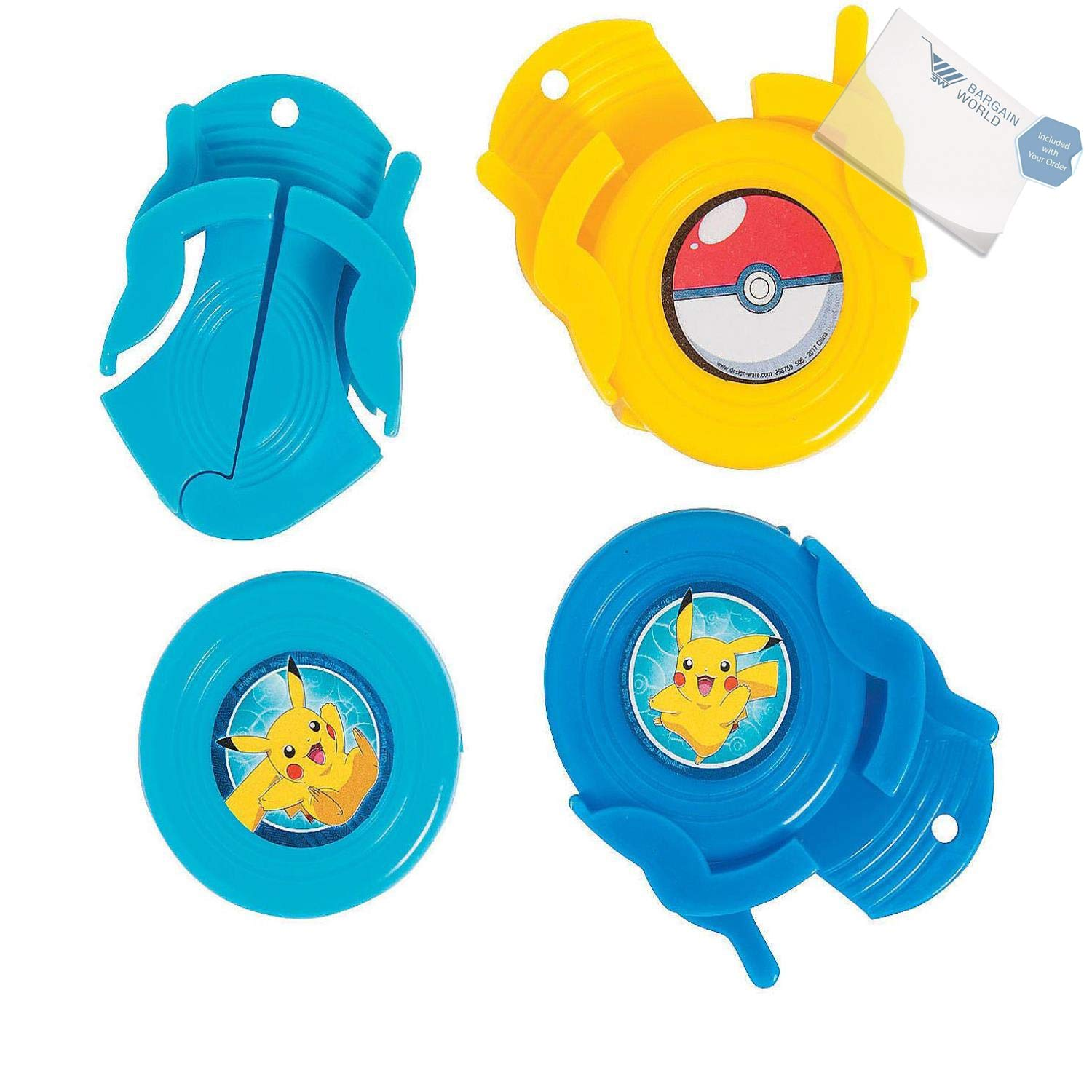 Bargain World Plastic Pikachu & Friends Disc Shooters (With Sticky Notes) by Bargain World (Image #1)