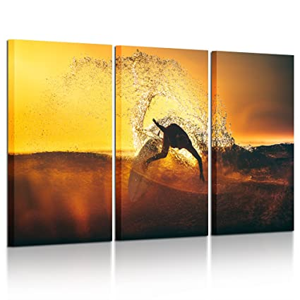 Amazon.com: Kreative Arts - Large 3 Pieces Canvas Prints Wall Art ...