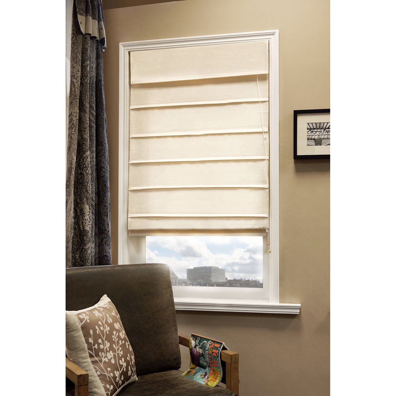 Snow white thermal fabric roman shades free shipping on orders over - Amazon Com Chicology Standard Cord Lift Roman Shades Window Blind Fabric Curtain Drape 100 Cotton Privacy Sahara Sandstone 39 W X 64 H Home