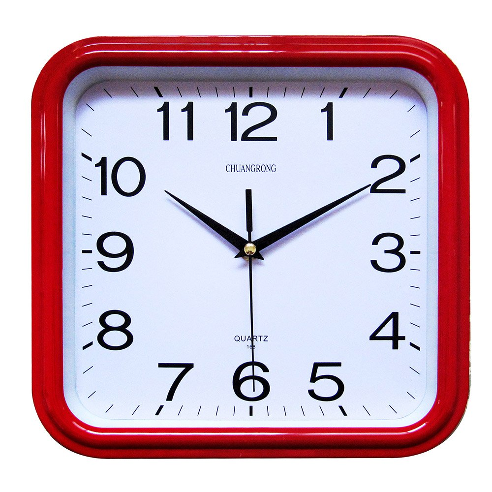 Wall Clock, Chuang Rong Square Controlled Non ticking Silent Sweeping Seconds (Gold)