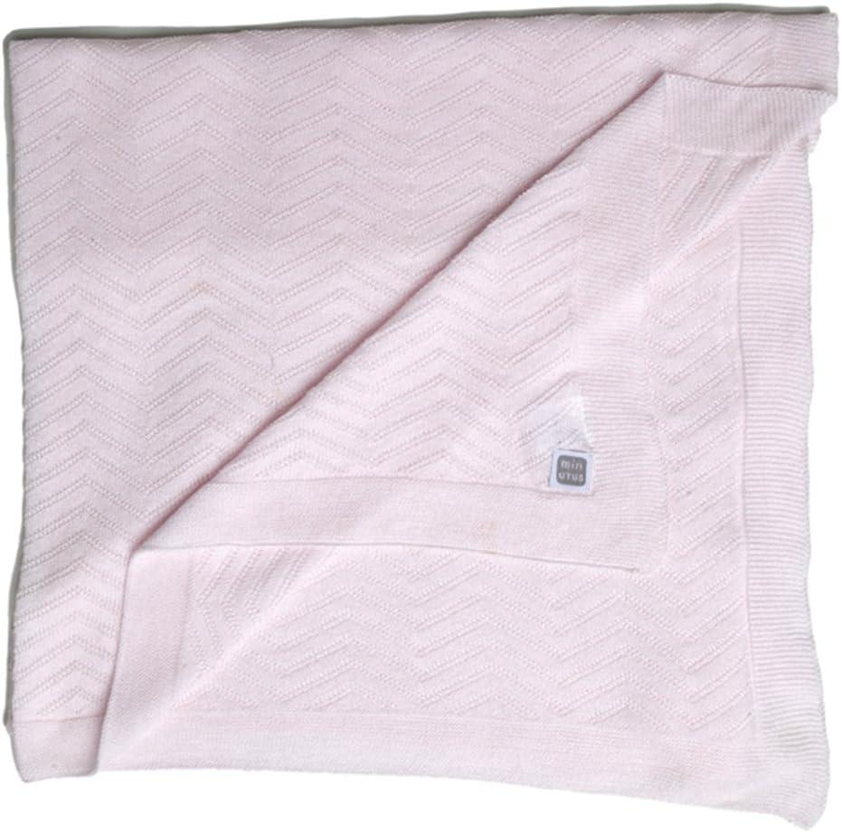 Minutus Manta Fina de Punto para Verano Algodón 80 Cm (Delta) (rosa)
