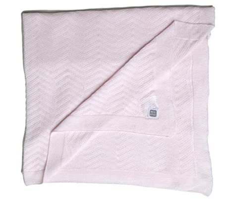 Chelsea /& Harper Premium Baby Blanket Colour: Pink Travel 100/% Cotton Ideal for Crib Nursery Bedding Super Soft Thick Knitted Blanket