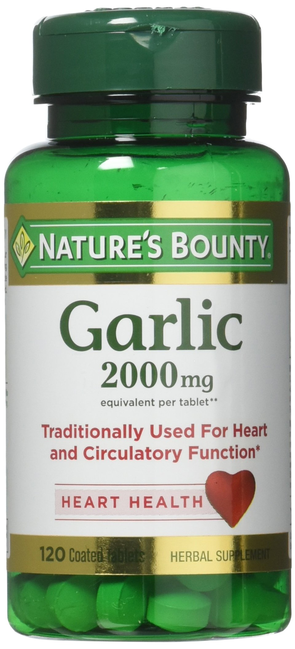 Nature's Bounty Garlic, 2000mg, 120 Coated Tablets (Pack of 2) by Nature's Bounty