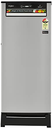 Whirlpool 215 L 3 Star Direct Cool Single Door Refrigerator(230 VITAMAGIC PRO ROY 3S, Alpha Steel, Base Stand with Drawer)